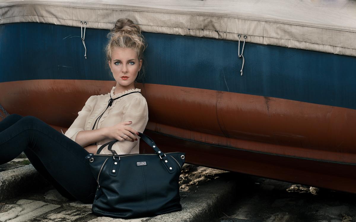 Handbag Milano Shopper with Tiano Collection brand on Como Lake