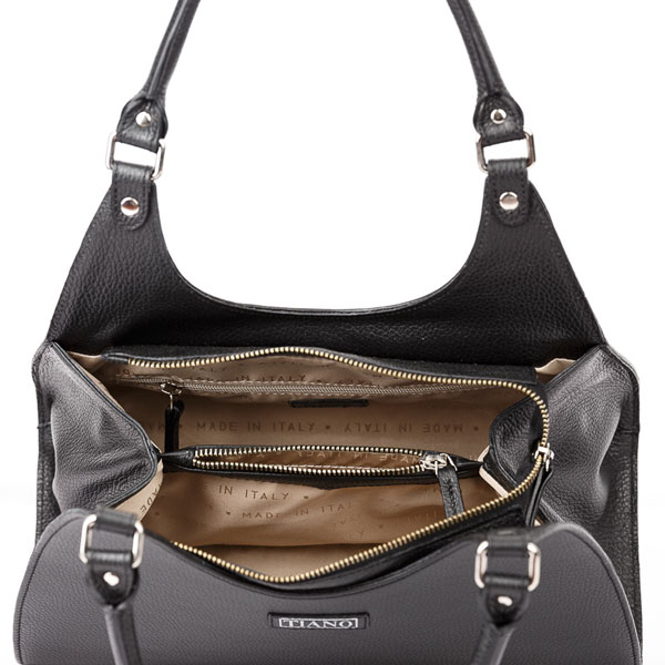 Tiano Collection Handbag Firenze Frame Color Black Inside
