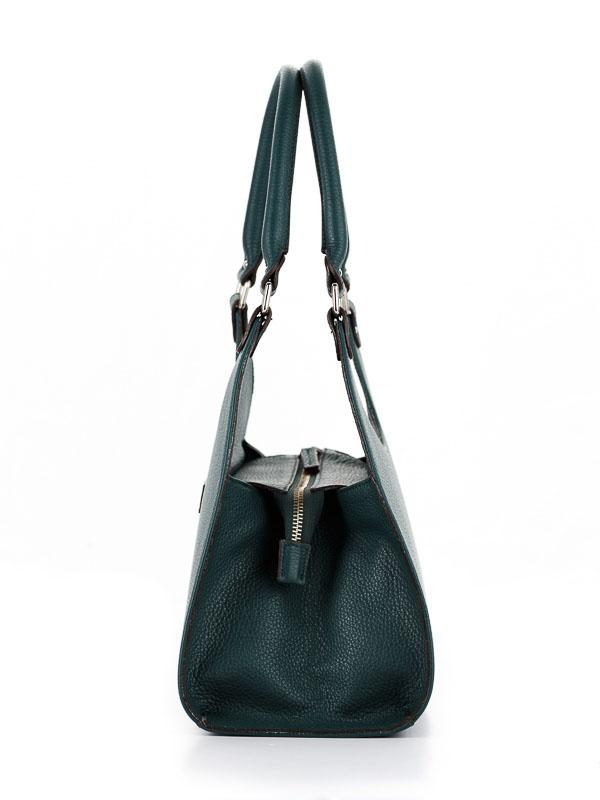 Tiano Collection Handbag Firenze Frame Color Petrolio Side A