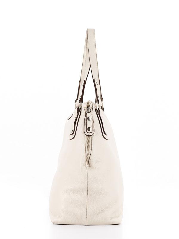 Tiano Collection Handbag Milano Shopper Color Beige Side A Closed