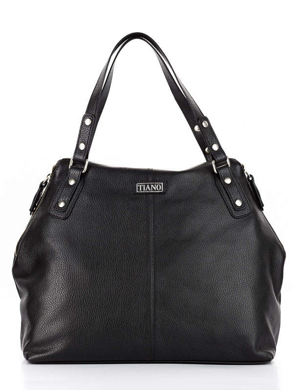 Tiano Collection Handbag Milano Shopper Color Black Front