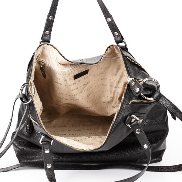 Tiano Collection Handbag Milano Shopper Color Black Inside