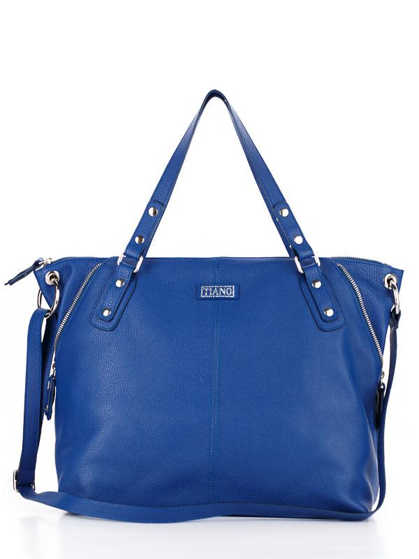 Tiano Collection Handbag Milano Shopper Color Bluette Front Open