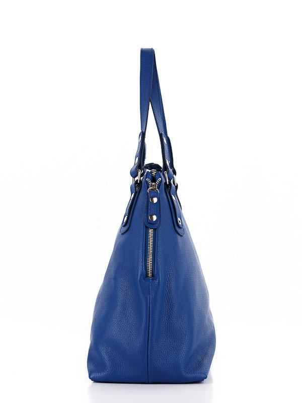 Tiano Collection Handbag Milano Shopper Color Bluette Side A