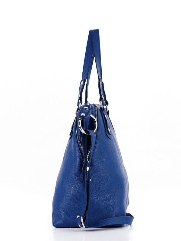 Tiano Collection Handbag Milano Shopper Color Bluette Side B