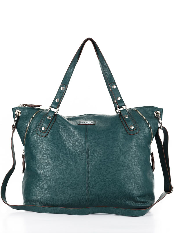 Tiano Collection Handbag Milano Shopper Color Petrolio Front