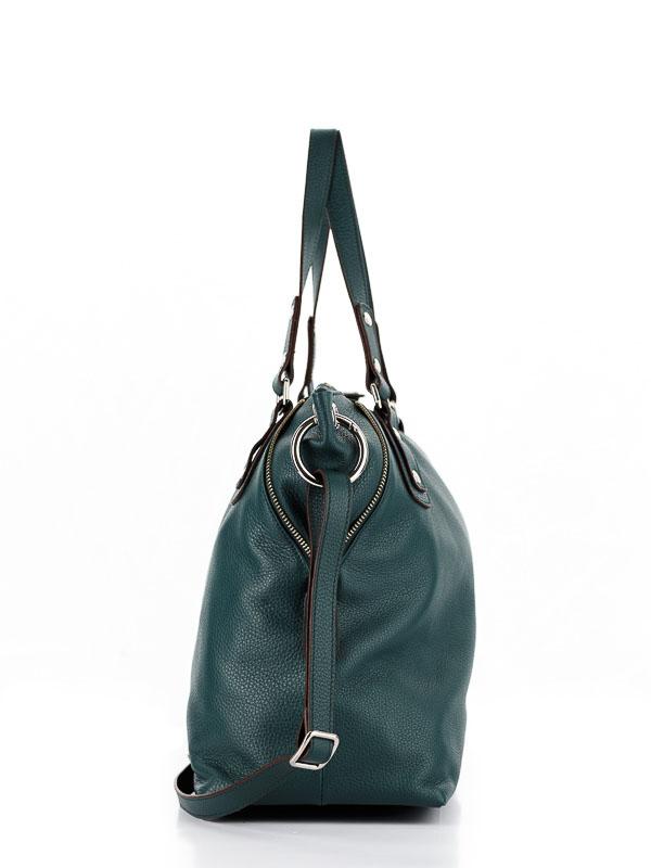 Tiano Collection Handbag Milano Shopper Color Petrolio Side A
