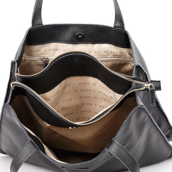 Tiano Collection Handbag Rimini Shopper Color Black Inside