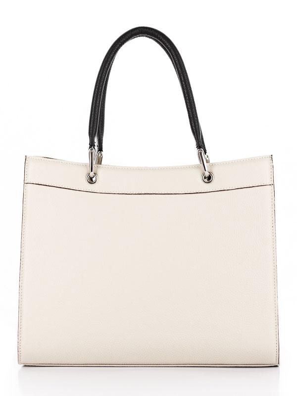 Tiano Collection Handbag Roma Saddler Color Beige and Black Back
