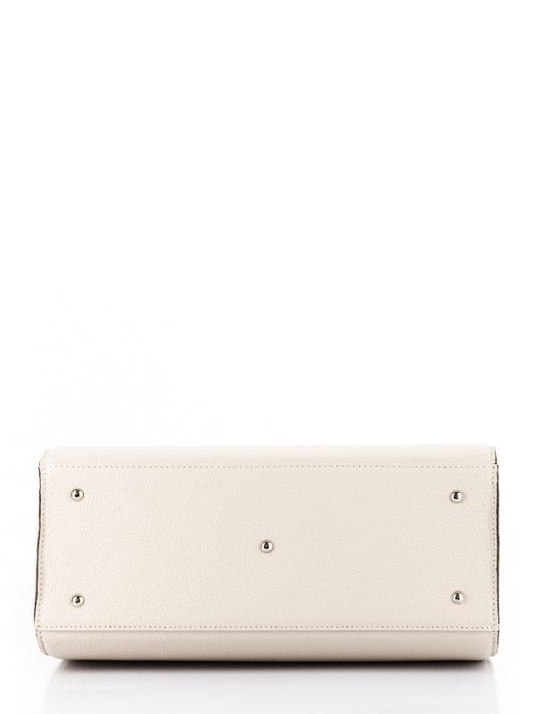 Tiano Collection Handbag Roma Saddler Color Beige and Black Base