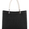 Tiano Collection Handbag Roma Saddler Color Black and Beige Back