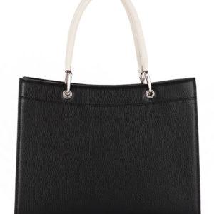 Tiano Collection Tasche Roma Saddler Farbe Schwarz und Beige Hinter