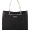 Tiano Collection Handbag Roma Saddler Color Black and Beige Front