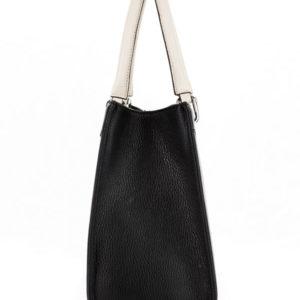 Tiano Collection Handbag Roma Saddler Color Black and Beige Side B