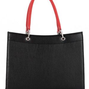 Tiano Collection Handbag Roma Saddler Color Black and Red Back