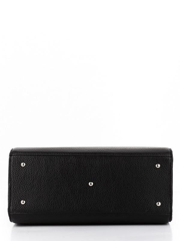 Tiano Collection Handbag Roma Saddler Color Black and Red Base