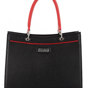 Tiano Collection Handbag Roma Saddler Color Black and Red Front