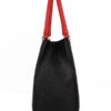 Tiano Collection Handbag Roma Saddler Color Black and Red Side A