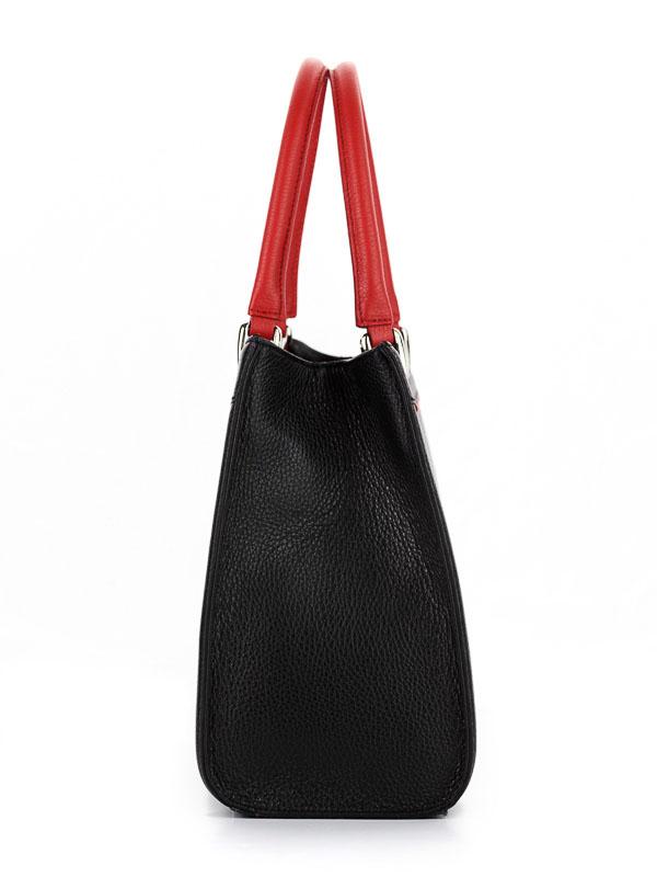 Tiano Collection Handbag Roma Saddler Color Black and Red Side B