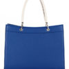 Tiano Collection Handbag Roma Saddler Color Bluette and Beige Back