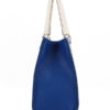Tiano Collection Handbag Roma Saddler Color Bluette and Beige Side A