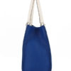 Tiano Collection Handbag Roma Saddler Color Bluette and Beige Side B