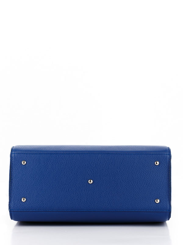 Tiano Collection Handbag Roma Saddler Color Bluette and Beige Base