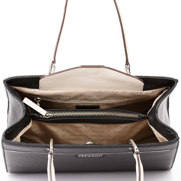 Tiano Collection Handbag Roma Sadler Color Black Inside