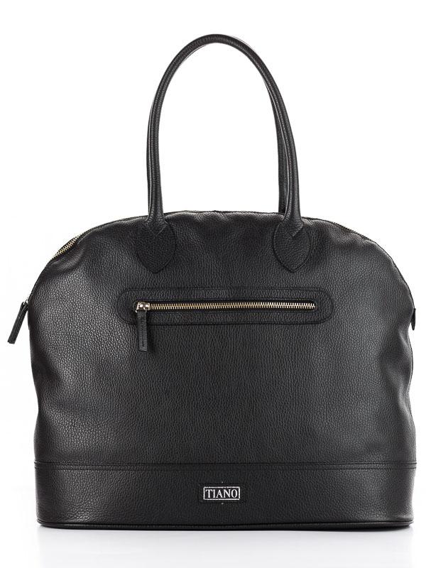 Tiano Collection Handbag Venezia Weekend Color Black Front