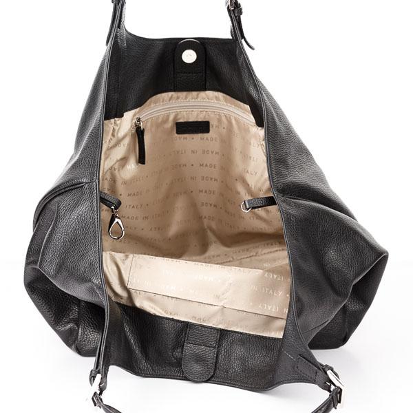 Tiano Collection Handbag Verona Shopper Color Black Inside Open