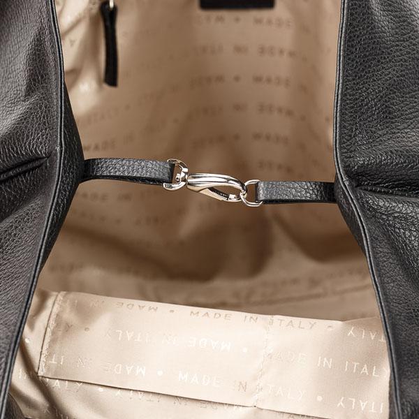 Tiano Collection Handbag Verona Shopper Color Black Inside