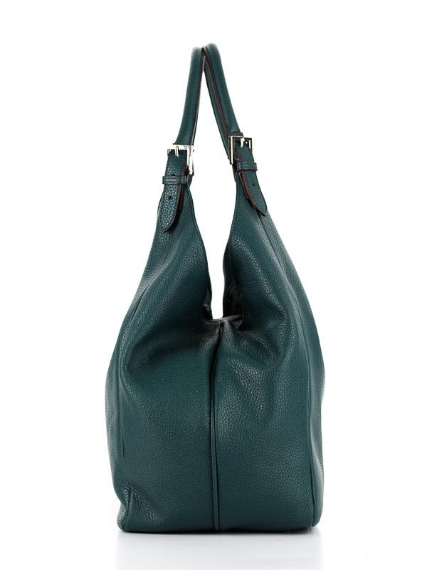 Tiano Collection Handbag Verona Shopper Color Petrolio Side A